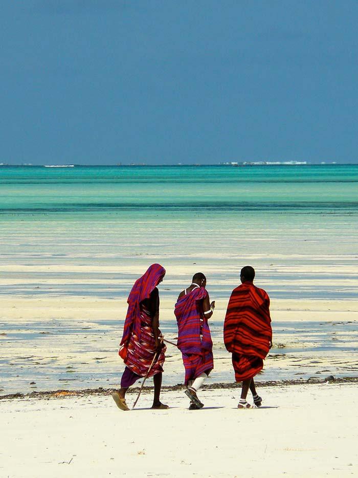 Gruppe - Kitesurfen auf Zanzibar