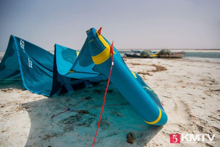 Kiteaufbau: Aufbau eines Kiteschirmes