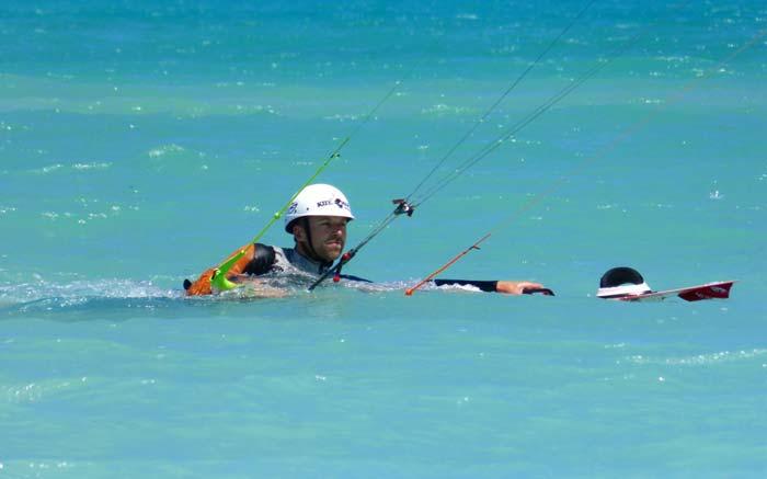 Kitesurfen lernen: Bodydrag Upwind und Downwind