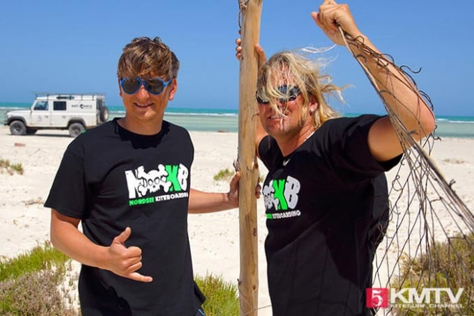 Maik & Denis KMTV Kitesurf Channel in Zarzis Tunesien