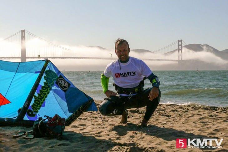 Kitereisen San Francisco - Kitesurfen unter der Golden Gate Bridge