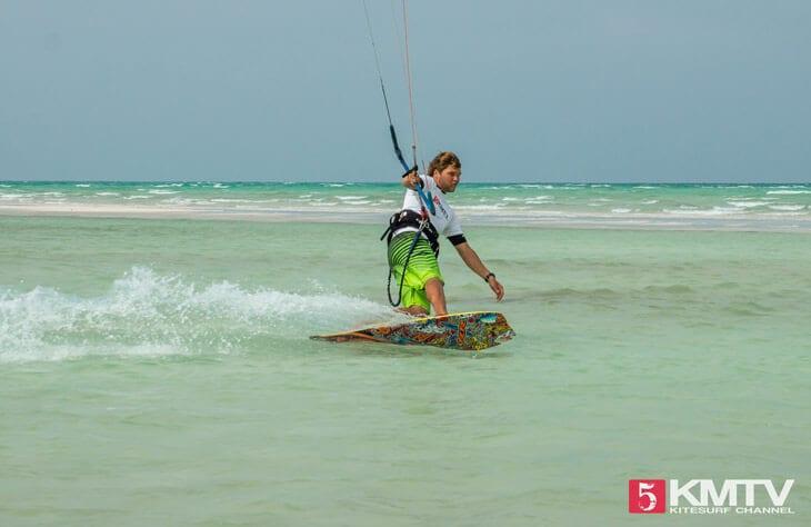Switch / Toeside fahren beim Kitesurfen