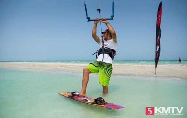 Beach Start beim Kiten