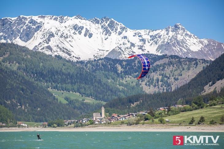 Kitespot Blick auf Reschen- Kitereisen Reschensee by kitereisen.tv