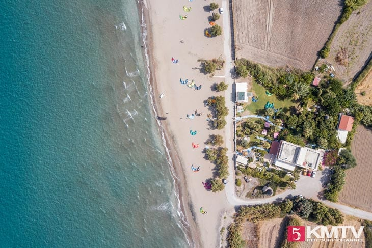 Kitespot Fanes - Rhodos Kitereisen und Kitesurfen
