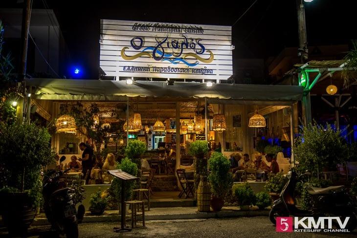 Restaurant O Gialos Stegna - Rhodos Kitereisen und Kitesurfen
