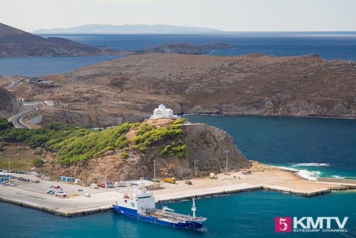 Fähre - Limnos Griechenland Kitereisen und Kitesurfen