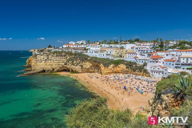Carvoeiro - Algarve Portugal Kitereisen und Kitesurfen