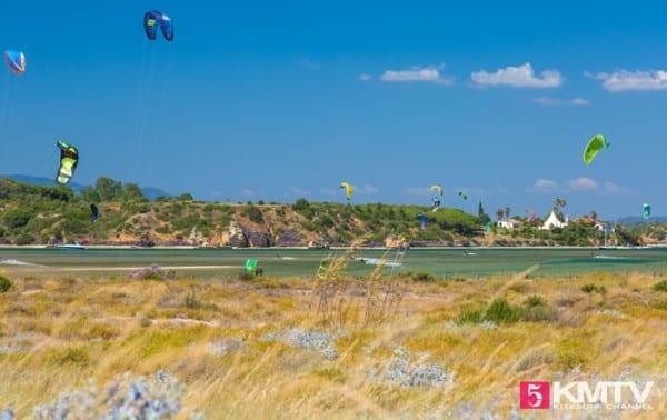 Lagoa de Alvor Titel - Algarve Portugal Kitereisen und Kitesurfen