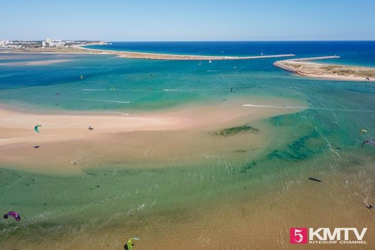 Lagoa de Alvor - Algarve Portugal Kitereisen und Kitesurfen