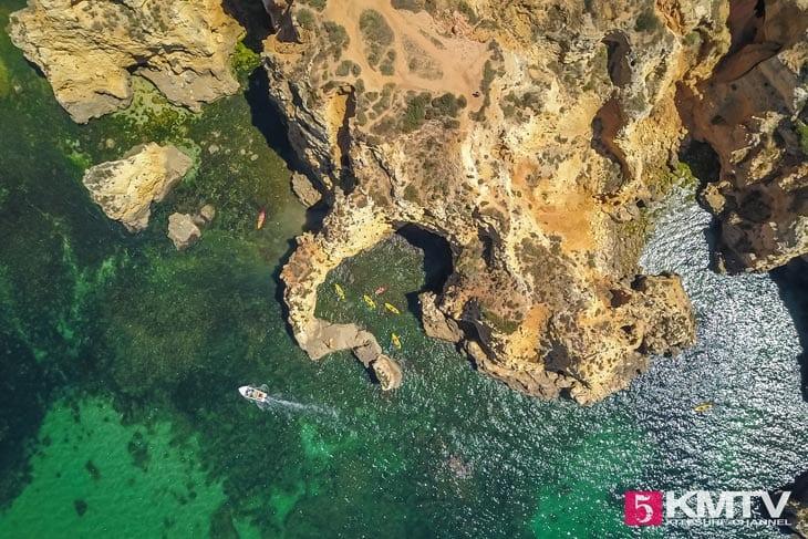 Ponta Piedade - Algarve Portugal Kitereisen und Kitesurfen