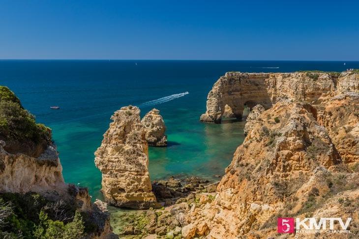 Praia da Marinha - Algarve Portugal Kitereisen und Kitesurfen
