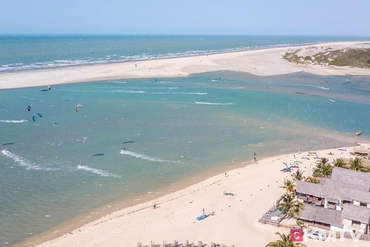 Tatajuba Kitespot Flussmündung - Brasilien Kitesurfen und Kitereisen