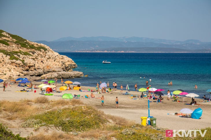 Spiaggia di Coacuaddus - Sardinien Kitereisen und Kitesurfen