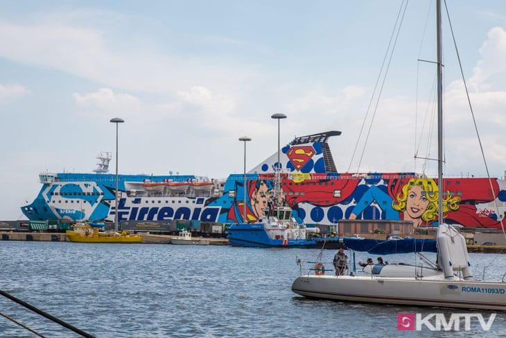 Anreise Fähre - Sardinien Kitereisen und Kitesurfen