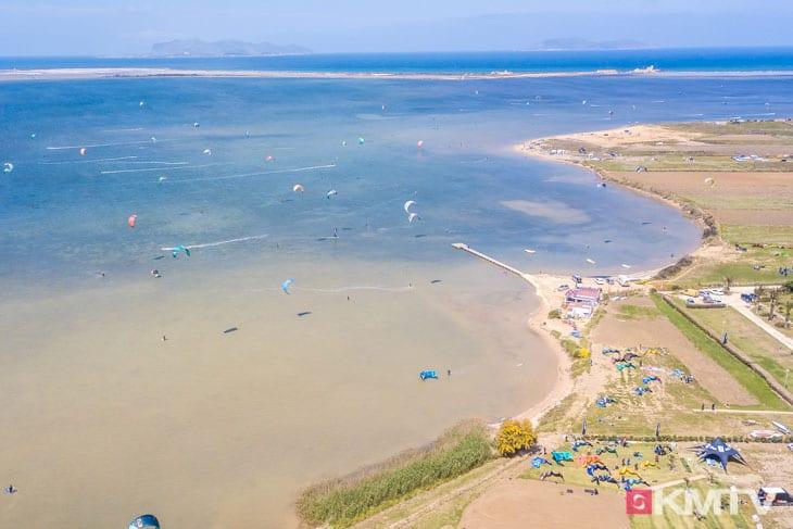 Kitespot Santa Maria - Marsala Sizilien Kitereisen und Kitesurfen
