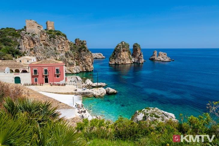 Scopello - Lo Stagnone Sizilien Kitereisen und Kitesurfen