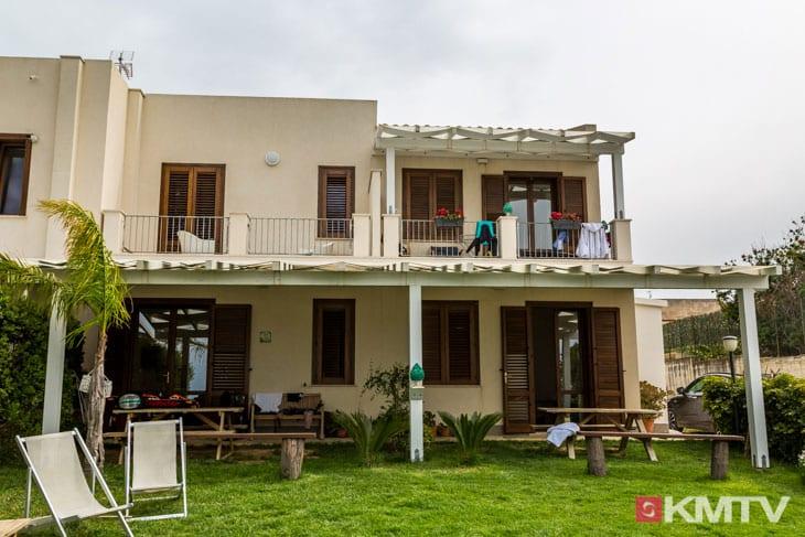 Unterkunft - Lo Stagnone Sizilien Kitereisen und Kitesurfen