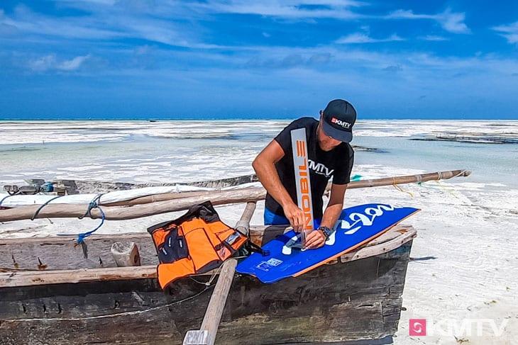 Foil montieren - Foilen lernen beim Kiten