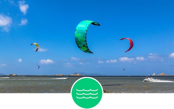 Sizilien - Flachwasser Kitespots zum Kitesurfen