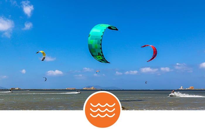 Sizilien - Kabbelwasser Kitespots zum Kitesurfen