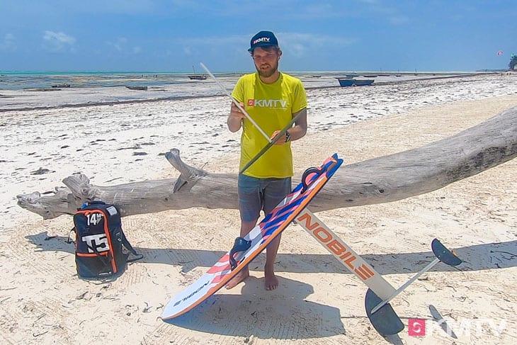 Mastlänge - Folien lernen beim Kiten