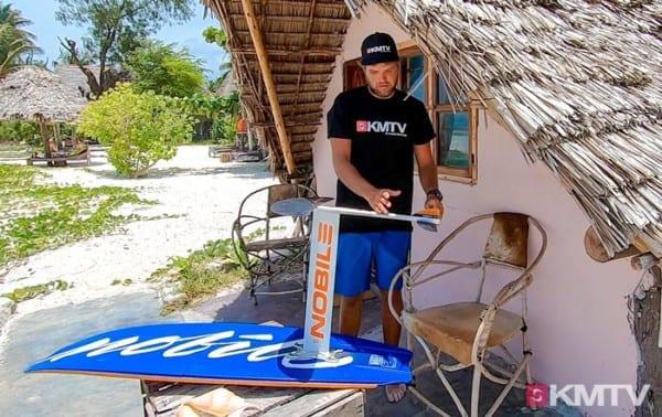 Mastposition - Foilen lernen beim Kiten