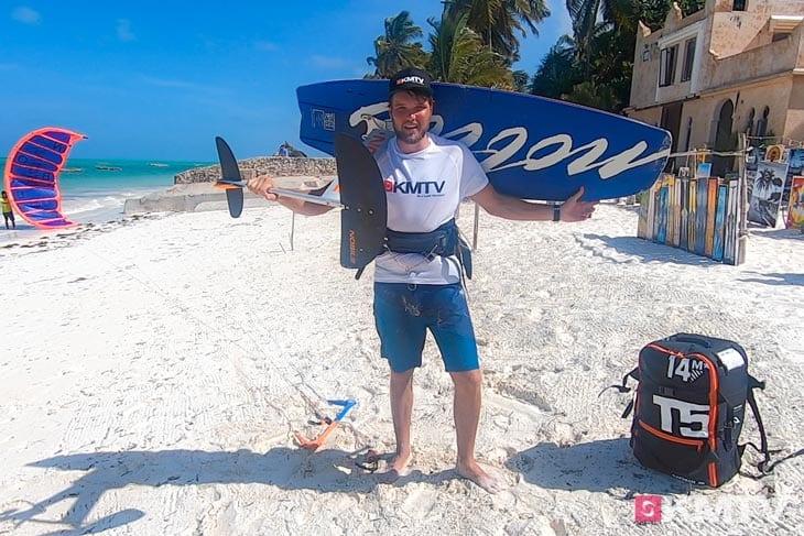 Foil richtig tragen - Foilen lernen beim Kiten