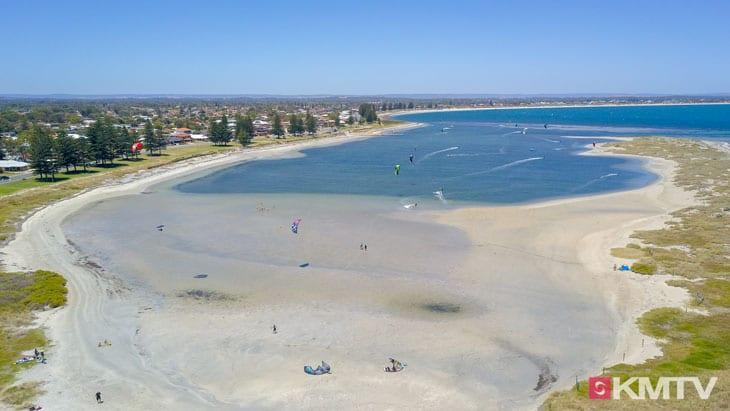 Kitespot Safty Bay - Perth Kitereisen und Kitesurfen