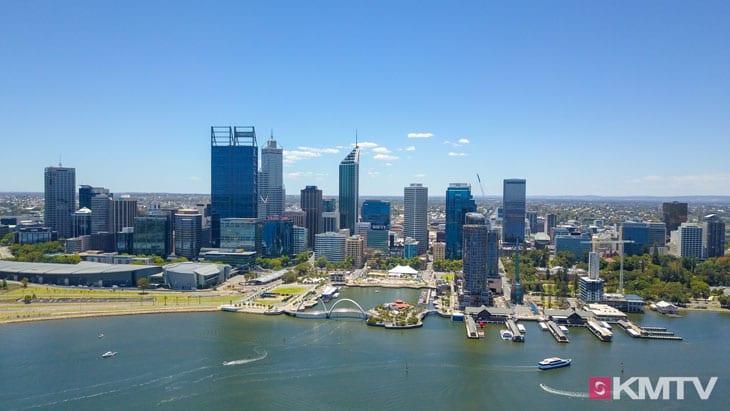 Perth Skyline - Perth Kitereisen und Kitesurfen