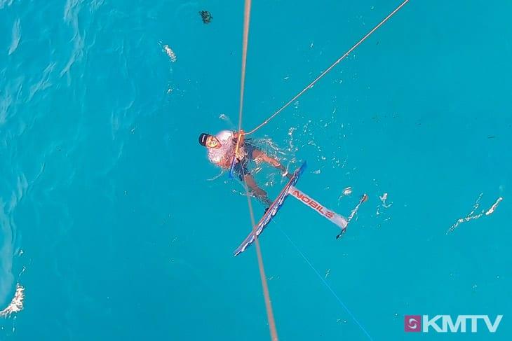 Foil Wassserstart - Foilen lernen beim Kiten