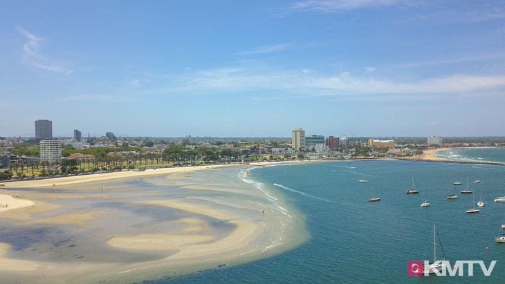 Port Phillip Bay - Melbourne Kitereisen und Kitesurfen