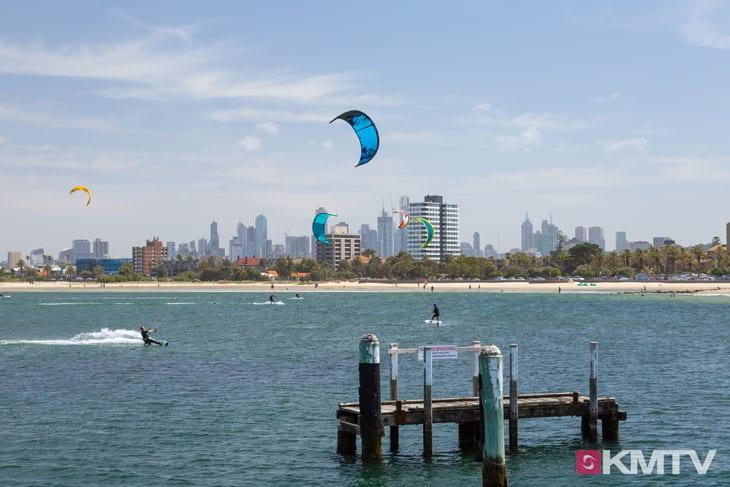 Kitespot St. Kilda - Melbourne Kitereisen und Kitesurfen