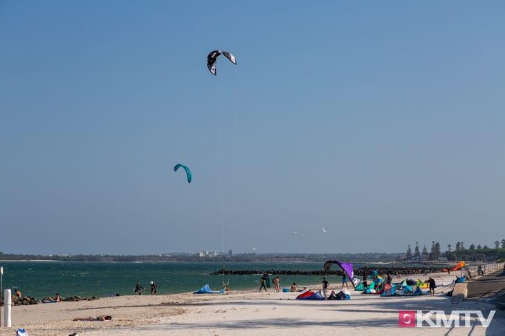 Kitespot Ramsgate Beach und First Groyne - Sydney Kitesurfen und Kitereisen