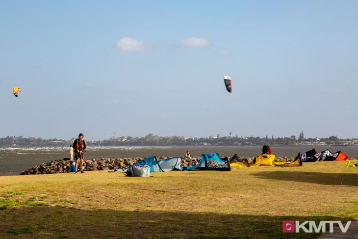 Kitespot Brighton Beach - Brisbane Kitereisen & Kitesurfen