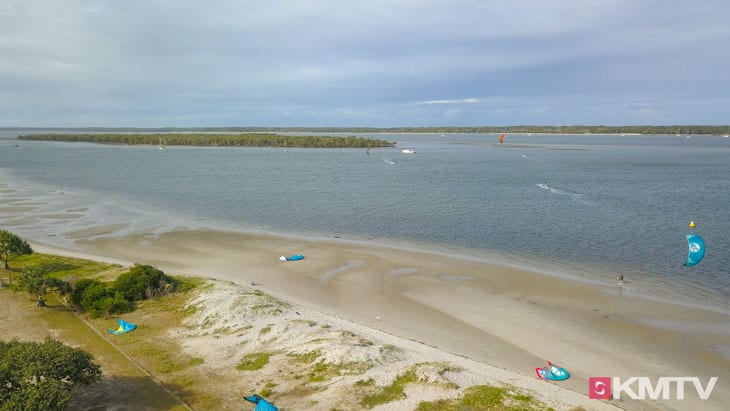 Kitespot Shearwater Esplanade - Surfers Paradise Kitereisen & Kitesurfen