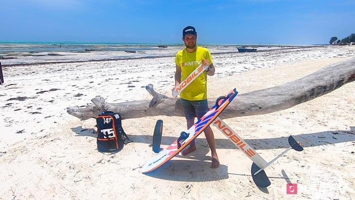 Mast wechseln - Foilen lernen beim Kiten
