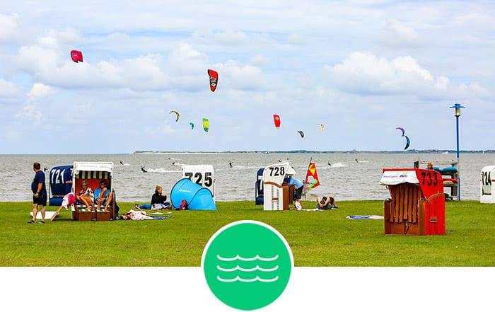 Ostfriesland - Flachwasser Kitespot zum Kitesurfen