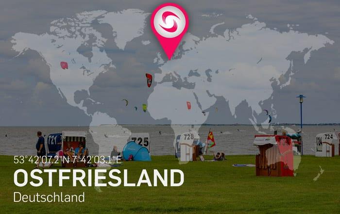 Ostfriesland - Kitesurf und Kitespot Area