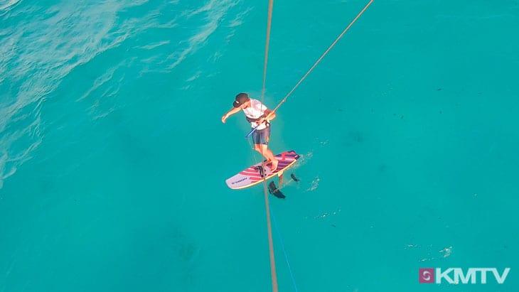 Switch fahren - Foilen lernen beim Kiten
